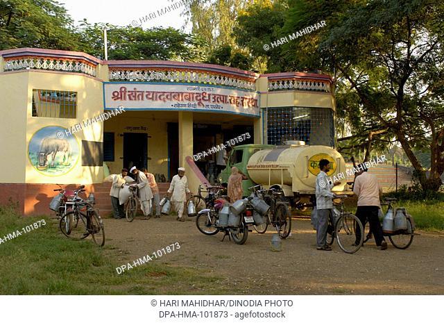 Milk producers co-operative society at Ralegaon Siddhi ; near Pune ; Maharashtra ; India