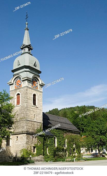 steeple in the Laussa in Upperaustria, Austria