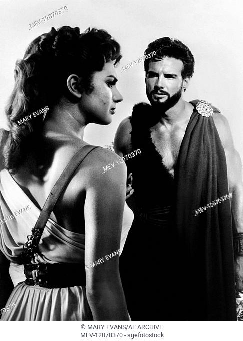 Sylva Koscina & Steve Reeves Characters: Iole, Daugher of Pelias & Ercole (Hercules) Film: Labors Of Hercules (1958) Director: Pietro Francisci 20 February 1958