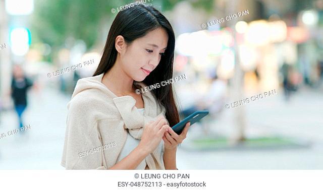 Woman enjoy the view in Hong Kong