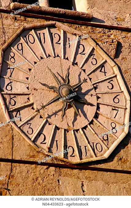 Clock tower, Belluno. Veneto, Italy