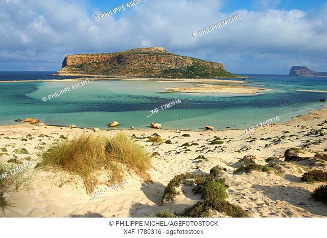 Greece, Crete Island, Chania, Gramvousa, Balos bay and Gramvousa island