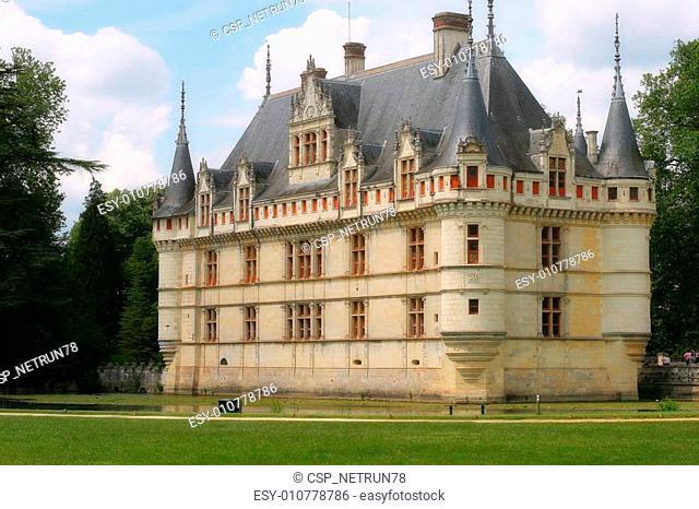 Beautiful castle Azay-le-Rideau, France
