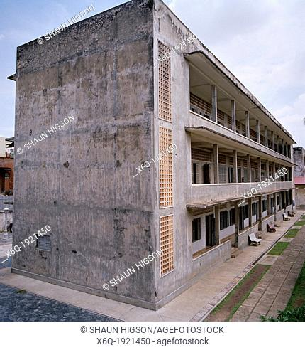 A former school - the Khmer Rouge torture chambers at Tuol Sleng in Phnom Penh, Cambodia  Also known as security prison S-21