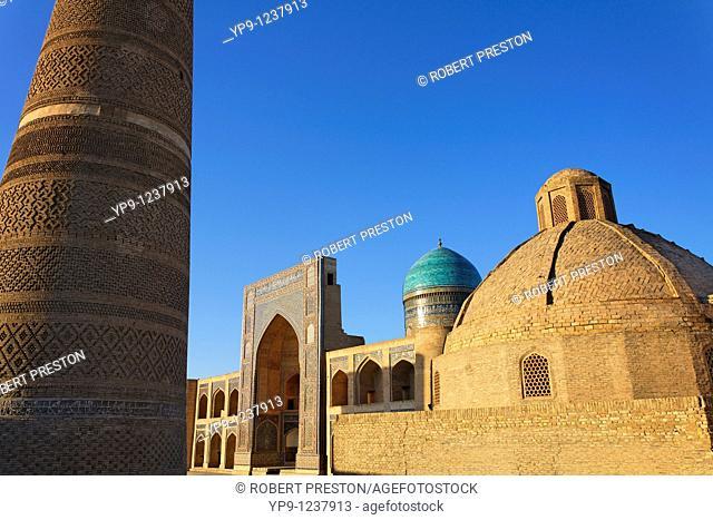 Uzbekistan - Bukhara - the Kalon Minaret and the Mir-i-Arab Medressa