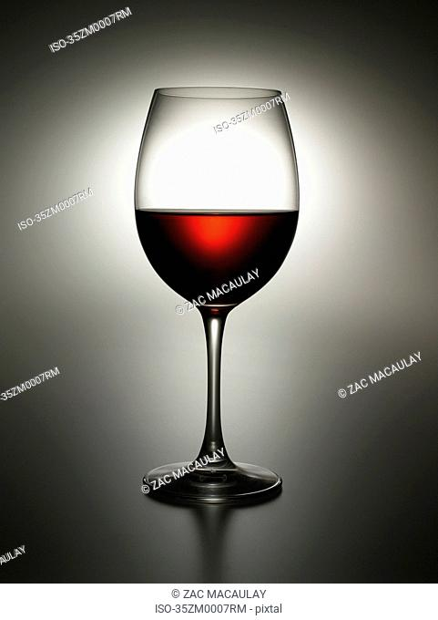 Close up of glass of wine