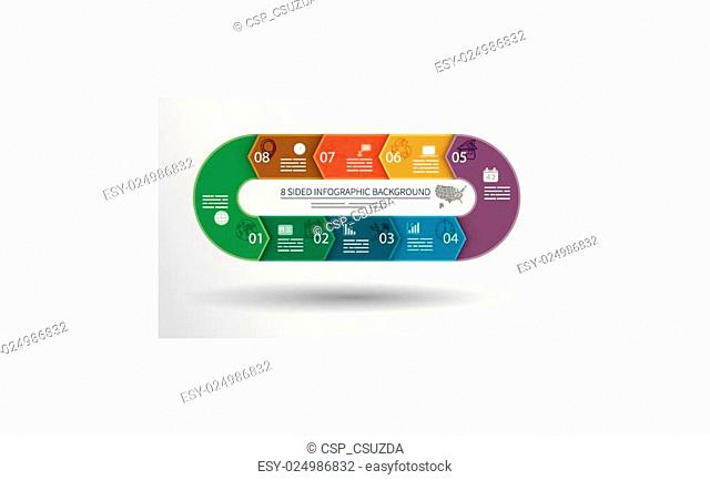 8 sided infographics background
