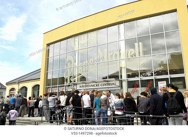 visitors at Pilsner Urquell Brewery, Plzen, Czech Republic