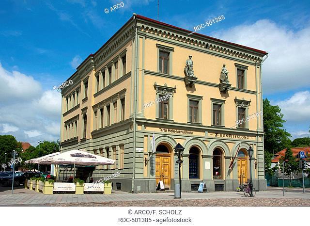 House at town hall square, Tartu, Estonia, Baltic states, Europe