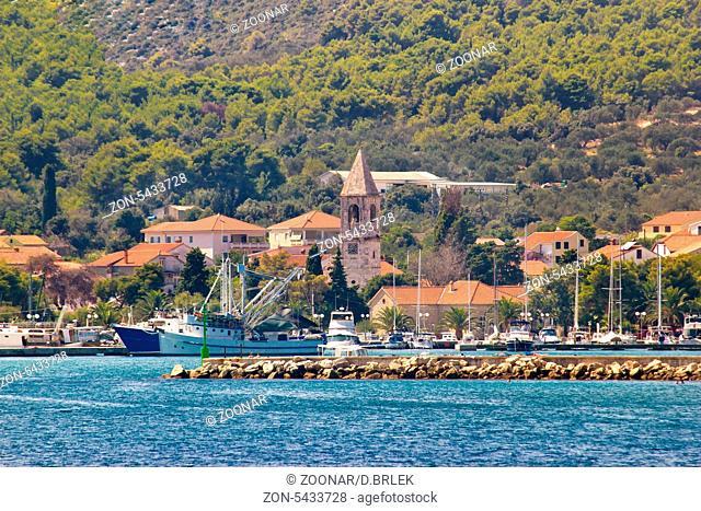 Town of Kukljica waterfront view, Ugljan island, Dalmatia, Croatia