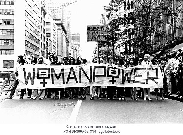 Protest in New York. March for women's liberation 1971 United States