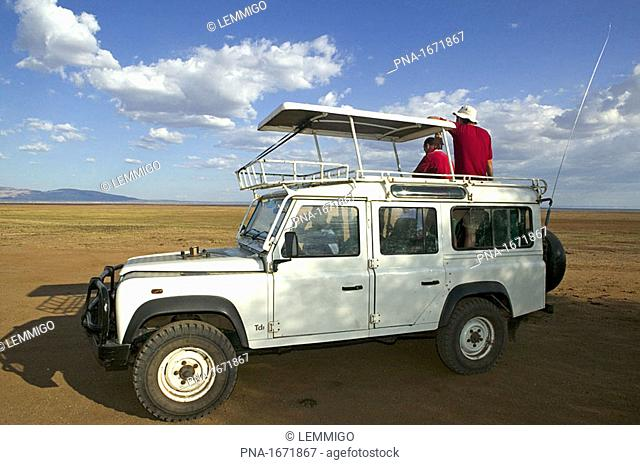 On safari in Serengeti National Park, Tanzania, Africa