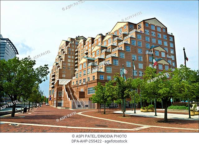 residential building in baltimore, new york, usa