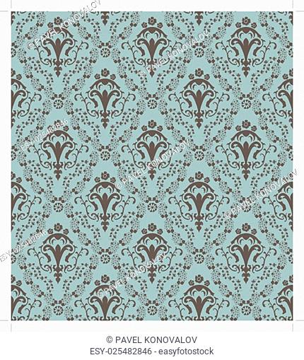 Damask seamless vector pattern. For easy making seamless pattern just drag all group into swatches bar, and use it for filling any contours