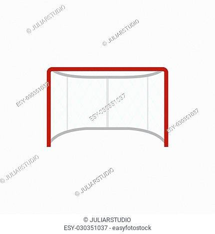 Hockey gates flat icon isolated on white background
