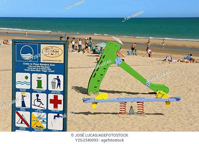 Islantilla beach - Blue Flag Programme, Lepe, Huelva province, Region of Andalusia, Spain, Europe