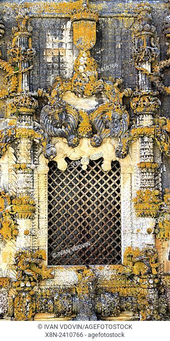 Manueline chapterhouse window, by Diogo de Arruda (1513), Convent of the Order of Christ (Convento de Cristo), Tomar, Portugal
