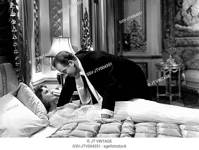 Greta Garbo, Melvyn Douglas, on-set of the Film, Ninotchka, 1939