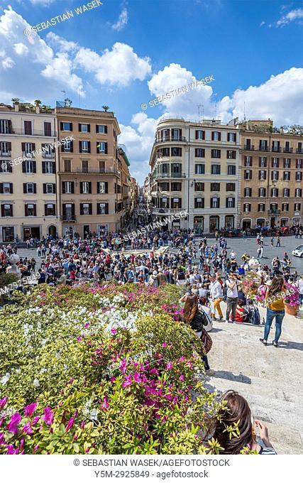 Spanish Steps, Rome, Lazio, Italy, Europe