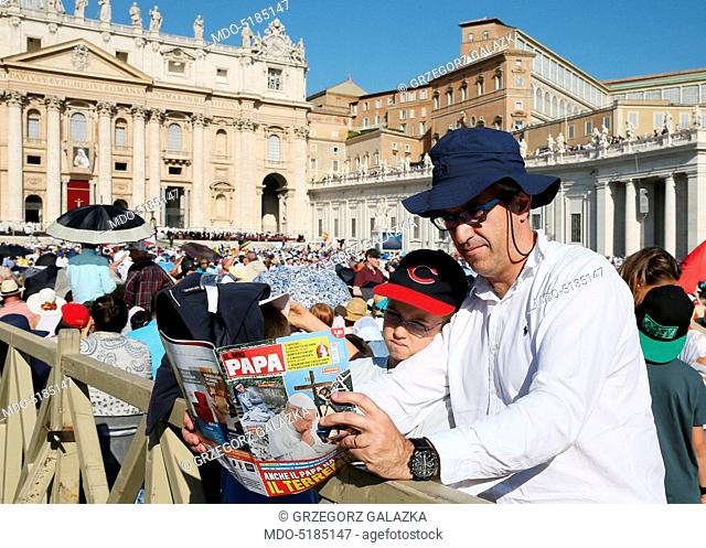 Pope Francis (Jorge Mario Bergoglio) celebrating Holy Mass in St. Peter's Square during the Mother Teresa (Anjeze Gonxhe Bojaxhiu) Canonization