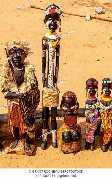 Locally Made Handicrafts For Sale, Turmi Market, Omo Valley, Ethiopia