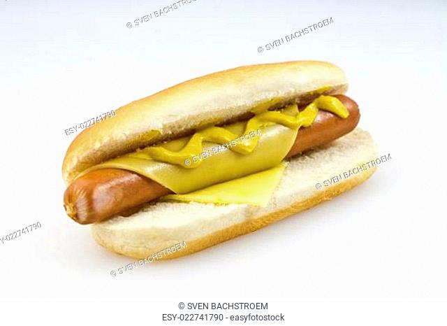 Hotdog mit Käse