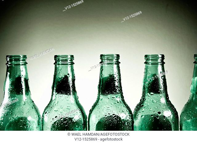 Close-up of an empty Beer bottle