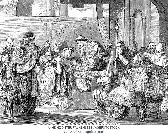 Pope Boniface VIII at Ash Wednesday