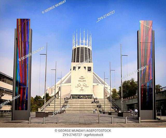 """Liverpool Metropolitan Cathedral,AKA The Metropolitan Cathedral of Christ the King, also called """"""""Paddy's Wigwam"""""""" and """"""""The Mersey Funnel. """""""""""