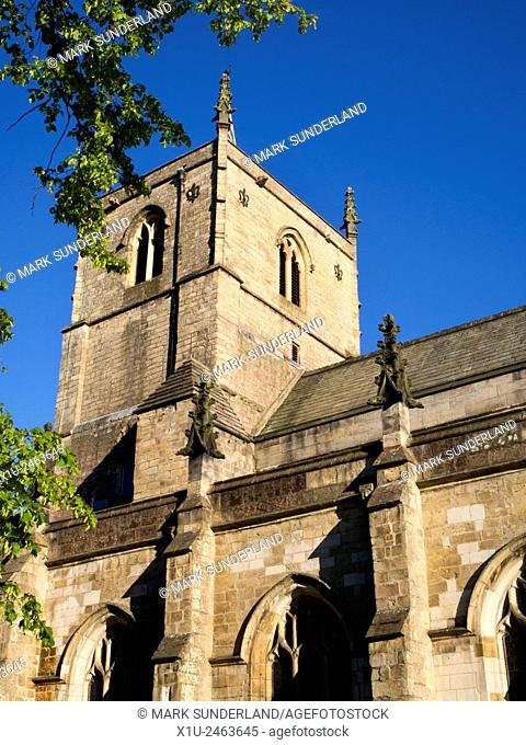 St Johns Parish Church on a SUmmer Evening at Knaresorough North Yorkshire England