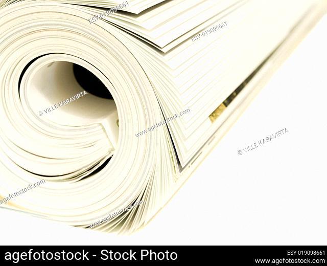 Magazine Roll on white