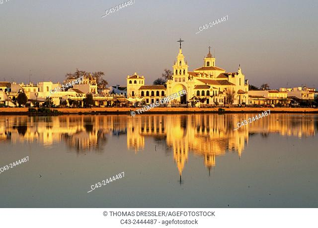The famous village of El Rocio, where a famous pilgrimage takes places every year at Pentecost and the marsh, the so-called Madre de las Marismas del Rocio