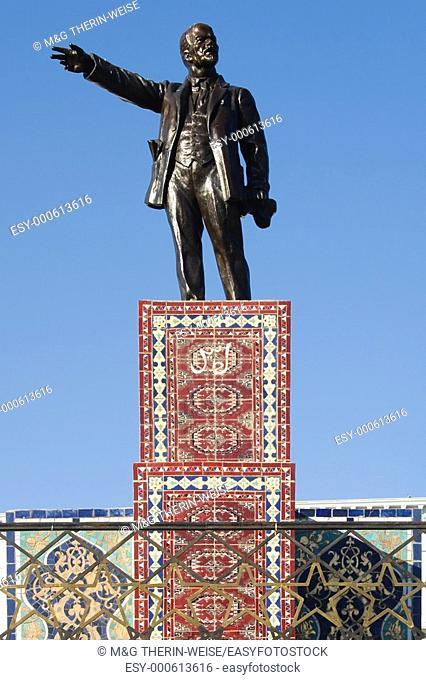 Lenin statue, Ashgabat, Turkmenistan