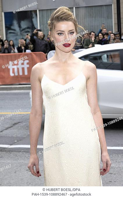 Amber Heard attends the premiere of 'Her Smell' during the 43rd Toronto International Film Festival, tiff, at Wintergarden Theatre in Toronto, Canada