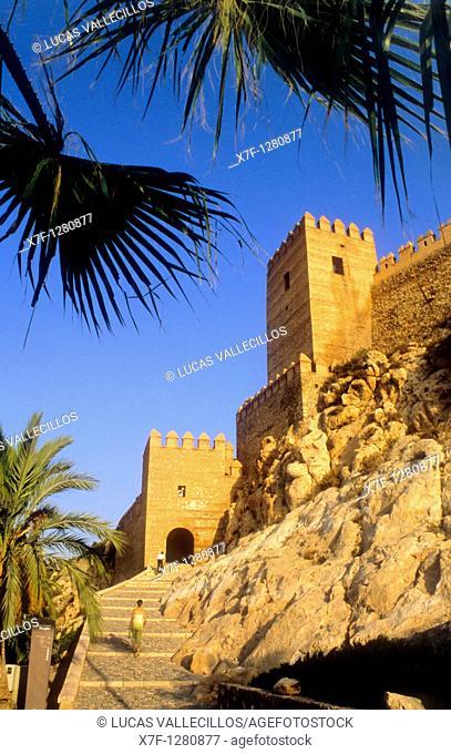 Alcazaba `Torre de los espejos'  Tower of Mirrors Almeria, Andalucia, Spain