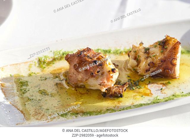 Grilled octopus Calpe Spain
