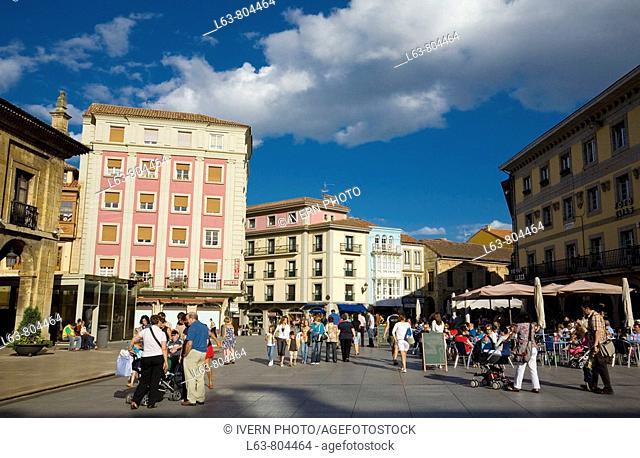 Main Square, Avilés. Asturias, Spain