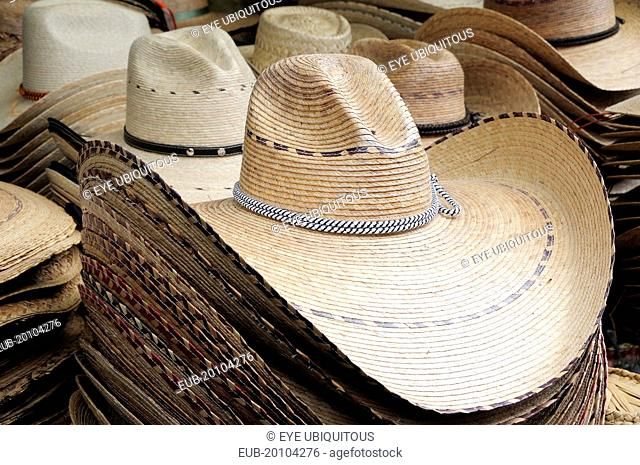 Hats for sale in the market