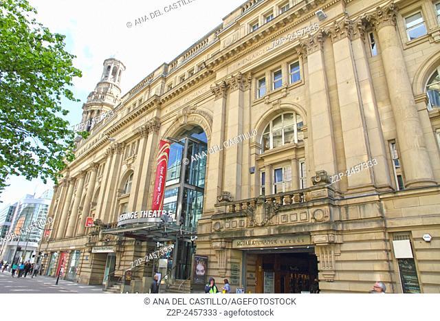 MANCHESTER UK- APRIL 19: Royal exchange building on April 19, 2014 in Manchester England UK