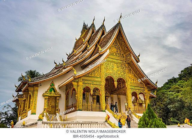Buddhist temple Haw Pha Bang at the Royal Palace, Historic District, Luang Prabang, Louangphabang, Laos