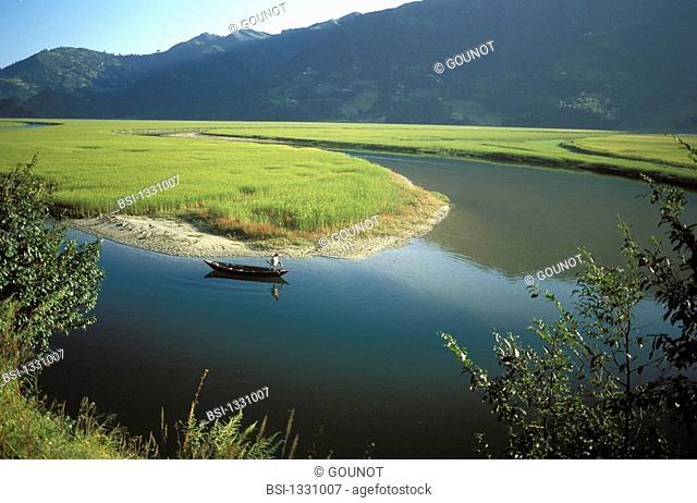 Phewa lake in the region of Pokhara in Nepal