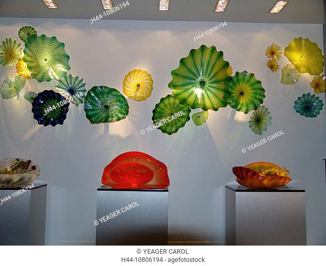 art, colored glass, Exhibit, gallery, glass, glassware, different, colors, modern, museum, mussels, skill