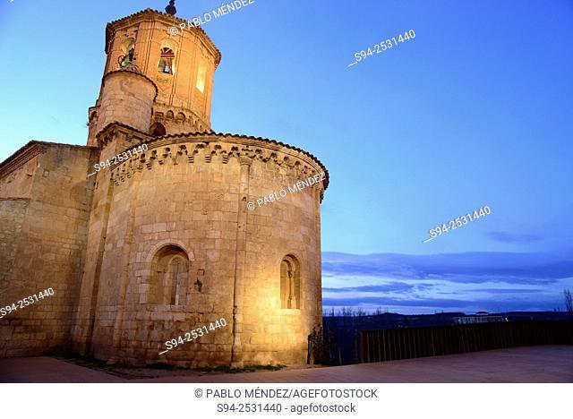 Church of San Miguel in Main square of Almazan, Soria, Castilla Leon, Spain