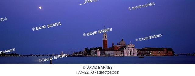 Moon over San Giorgio Maggiore Church, Venice, Italy