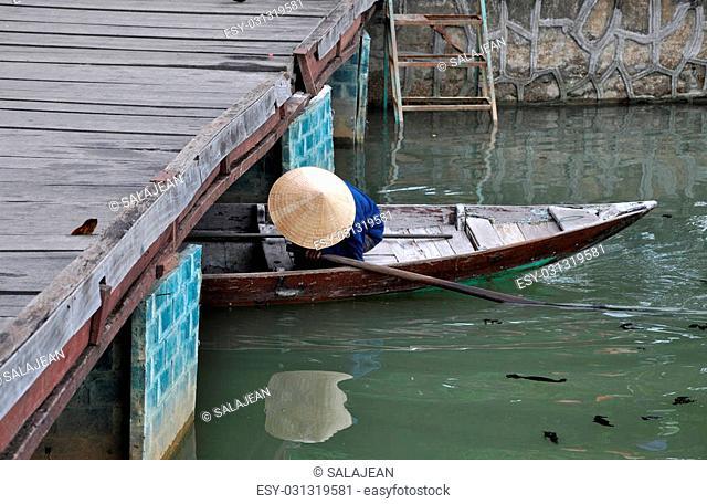 Vietnamese boat in Hoi An, Vietnam