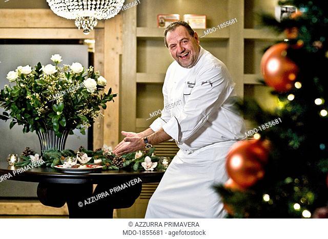 Italian chef Gianfranco Vissani during a photocall shooted at his restaurant. Terni (Italy), 29th November 2013