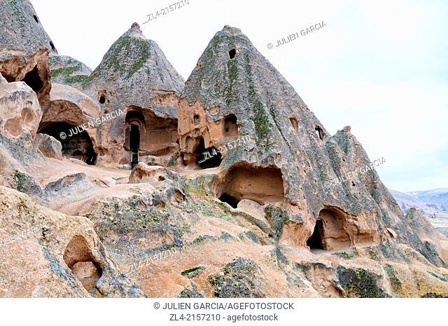 Selime Monastery Cave Complex. Turkey, Central Anatolia, Nevsehir Province, Cappadocia, Ihlara Valley