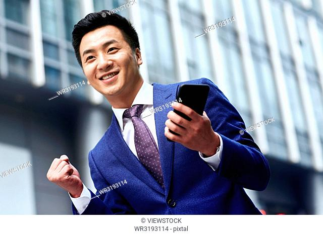 Exciting business man