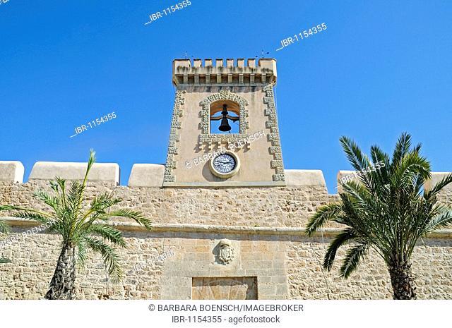 Castillo Fortaleza, castle, fortress, cultural center, museum, Santa Pola, Alicante, Costa Blanca, Spain, Europe