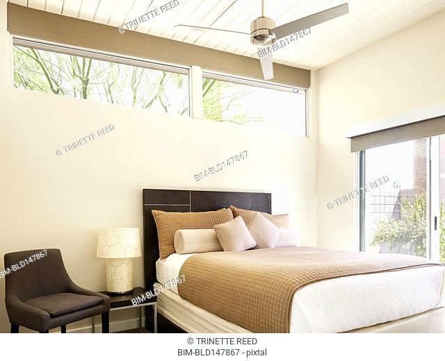Modern, tranquil bedroom